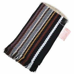 MISSONI For Target Black Brown Chevron Scarf NEW